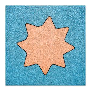 Płyta gumowa na place zabaw - kwadrat