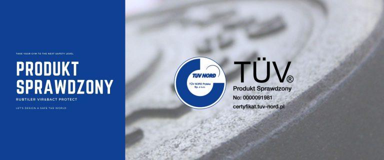 TÜV NORD potwierdza Produkt Sprawdzony - Rubtiler Vir&Bact Protect